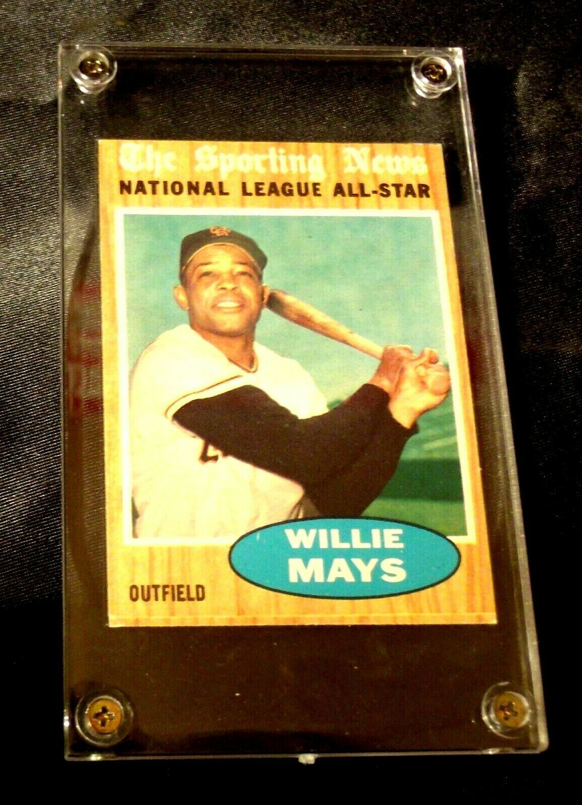 Willie Mays Baseball Trading Card # 395 Outfield- Nash AA19-BTC4006 Vintage Coll