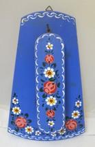 2PC English Bargewear Coat  Brush w Holder Stunning Floral Painting Gyps... - $34.16