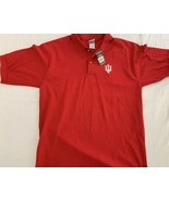 INDIANA UNIVERSITY RED POLO SHIRT SIZE large New NWT Cotton - $18.99