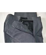 LOUIS RAPHEL Dress Pants 30 32 Charcoal Gray Checked Double Clasp NWOT - $28.50
