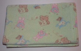 "Blankets and Beyond Security Blanket Green Animals 37"" by 30"" Baby Lovey... - $25.06 CAD"