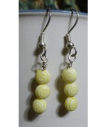 Yellow Egyptian Eye Earrings - $15.00