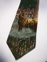 Vtg WEMBLEY  RARE  Endangered ARABIAN ORYX   Mens 100  SILK Necktie 0 217 - $17.99