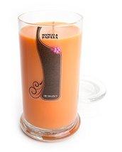 Mango & Papaya Candle - 16.5 Oz. Highly Scented Orange Jar Candle - Fruit Ca - $24.50