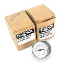 LOT OF 2 NIB NOSHOK 15.130.160 PSI/KPA 1/8'' BACK CONN SMOOTH SIDED CASE GAUGES