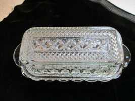 Anchor Hocking Wexford Clear Cut Glass Butter Dish with Lid Vintage - $19.79