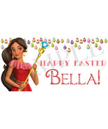 Princess Elena Easter Basket Sticker, Waterproof and Personalized - $3.25+