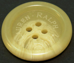 "Org Ralph Lauren plastic Husk white logo Replacement sleeve/ pocket button .60"" - $2.97"