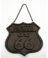 Cast Iron Route 66 Hanging Wall Sign with Chain - $15.83