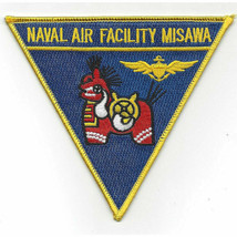 "NAVY NAVAL AIR FACILITY MISAWA JAPAN 5"" EMBROIDERED  PATCH - $18.04"
