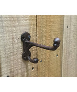 CAST IRON-  Small Harness Hook Hanger Wall Mount Rustic Brown - $3.95
