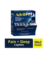 Advil Ibuprofen Pain Medicine for Nighttime Coated Caplets, 50 Count (Pack of 24 - $158.39