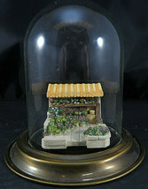 GoebelKINDER WAY & THE SOLITAIRE 1989 Glass Dome 962-D & 949-D Flower S... - $180.00