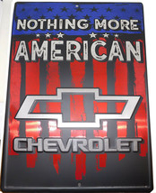 """Nothing More American Chevrolet USA 12""""x18"""" Metal Plate Parking Sign - $12.88"""