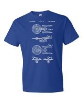 Star Trek USS Enterprise Ship T-Shirt Patent Art Gift Starfleet Command ... - $18.95+
