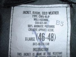 US Air Force, Navy, et al, CWU-45P flight jacket, X-Large, Creative Apparel 2000 - $150.00