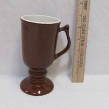Hall USA Footed Pedestal Coffee Cup Mug Chocola... - $8.90