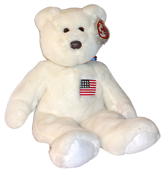 Primary image for USA American Flag TY Classic Beanie Buddy Plush Teddy Bear