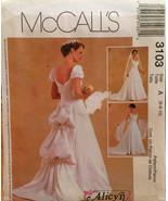 McCalls Bridal Gown Princess Seams Sweetheart Neckline 2 Sleeve Options,... - $10.00