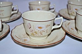 ROYAL DOULTON Norfolk LS1050 Tea Cups & Saucers Set of 6 Lambethware Floral - $22.99