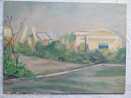 Painting Modern Half Novecento oil On Board landscape Countryside 40x30 p9 - $205.29