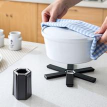 Heat Resistant Folding Tray Trivet Mat Hot Pot Pad Round Save Place Holder - $9.00