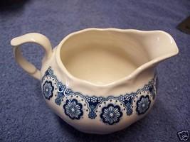 Nikko Kingstone Creamer White Blue Flowers Lovely - $6.52