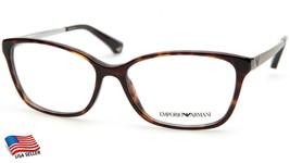 New Emporio Armani Ea 3026 5026 Dark Havana Eyeglasses Frame 54-15-140 B38mm - $82.81