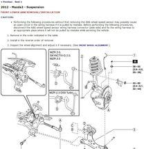 2012 Mazda3 / Mazdaspeed3 Factory Repair Service Manual - $12.99