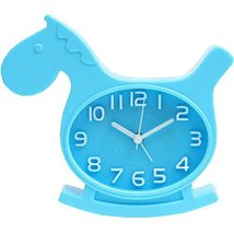 Nostalgia Noiseless Alarm Clock Kids' Birthday Gift Student Clock Blue - $14.54