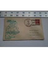 Home Treasure Postal Cover Envelope 1934 Postmark USS Portland Maine Shi... - $9.49