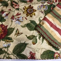 2 Standard Pillow Shams Waverly Floral Butterfly Orchid Lily - $29.02