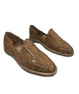 Deeohs Leather Knit Sandals Size 11 US / CM 29 Mens Hand Made - $48.62