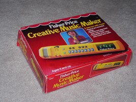 Vintage 1986 Fisher Price Creative Music Maker Mic Recorder & Stand 3007... - $42.56