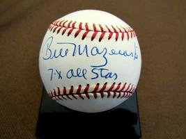 BILL MAZEROSKI 7 X ALL-STAR PIRATES HOF SIGNED AUTO VINTAGE ONL BASEBALL... - $168.29