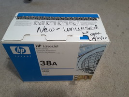 Hp 38A (Q1338A) Black Toner Cartridge - New Unopened Box - $19.99