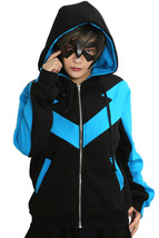 XCOSER Batman Nightwing Hoodie Cosplay Costume Jacket Zipper Sweatshirt Unisex  - $63.00