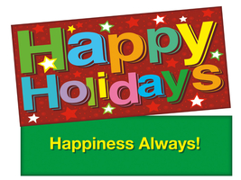 Happiness Holidays Stars ~ Christmas Holiday Gift Card or Money Holder - $5.00