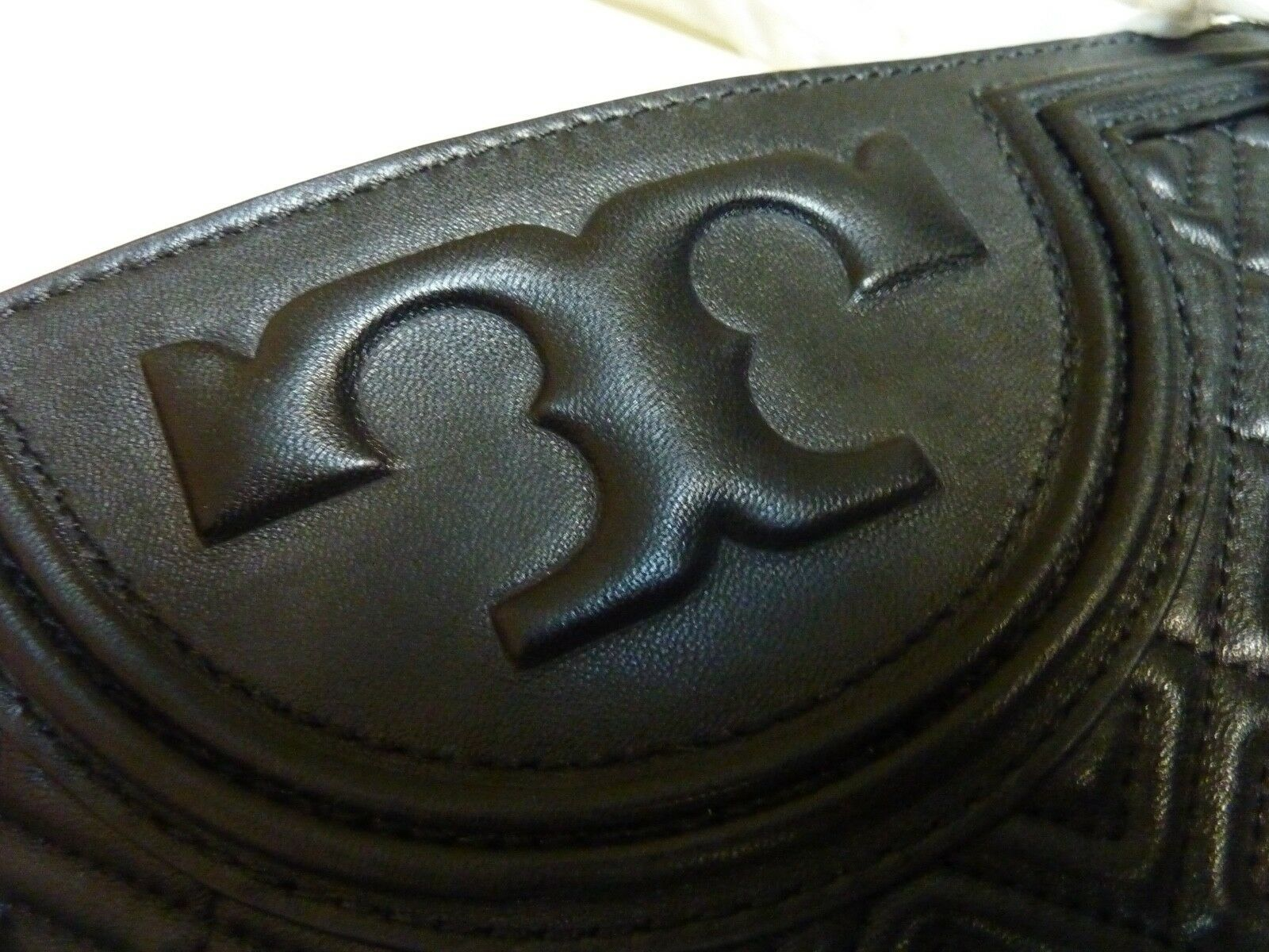NWT Tory Burch Black Fleming Open Shoulder Tote image 10