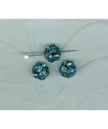 3 Glittery Sparkly Aqua Pave Crystal Ball 14 Millimeter Beads Czech   - $7.50