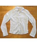 Abercrombie Girl's Blue & White Striped Long Sleeve Dress Shirt - Size XL - $14.99