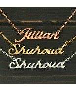 Custom Name Necklace Gold SIlver Rose Gold Plated Personalized Pendant G... - $12.76