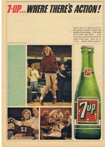 1965 BOWLING Theme 7-Up Where's There's Action Print Ad - $9.99