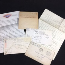 Lot of 6 WWII WW2 US Soldier Letters to Aunt and Uncle During Assignment  - $23.47