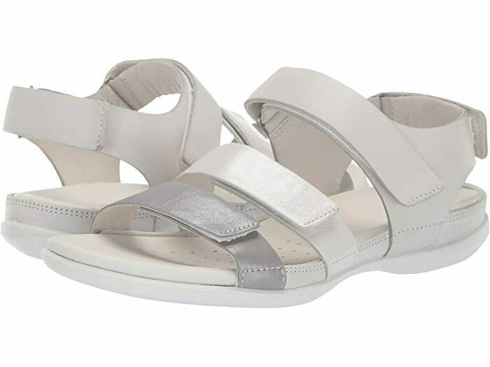 Primary image for ECCO Women's Flash Flat Sandal White Wild Dove Size 6-6.5 US 37 EUR