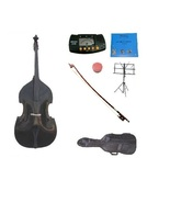 Merano 4/4 Black Upright Double Bass,Bag,Bow,Bridge,Strings,Stand,Tuner,... - $799.99