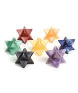 Hand Cut Crystal Merkaba Star Complete Chakra Set of 7 Stones Chakra Bal... - $26.99