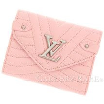 LOUIS VUITTON Pink Calf Leather Italy New Wave Compact Wallet Authentic ... - $828.45