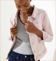 new MICHAEL KORS women jean denim jacket QS01B3D94L pink blossom sz S $120 - $49.49