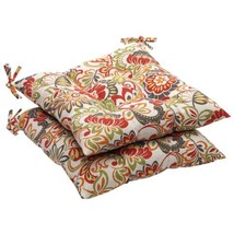 Pillow Perfect Indoor/Outdoor Multicolored Modern Floral Tufted Seat Cus... - £32.52 GBP